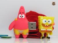 Retail genuine 2G 4G 8G 16G 32G usb drive thumb drive usb flash drive cartoon spongebob squarepants Free shipping+