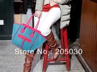 2013 NEW trendy popular women handbag Fluorescent face shoulder bag simple handbags BG038