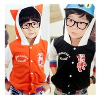 Free Shipping 2013 New Fashion Autumn Spring  Male Female Child Baby Girls Boys long sleeve Cartoon Fairy Ear Hoodie Outerwear