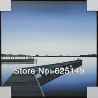 Decorative painting minimalist 'pontoon' Cicada pure hand-painted painting,support custom oil portrait landscape architecture