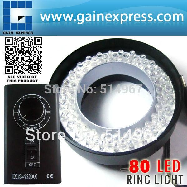 80 LED Camera Microscope Ring Light CE Illuminator warm white 70mm max diameter 50 - 240mm Working distance(Hong Kong)