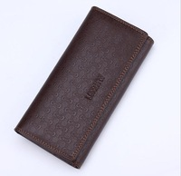 In August the new embossing men long wallet 13 screens thirty percent suit bag fashion leisure wallet