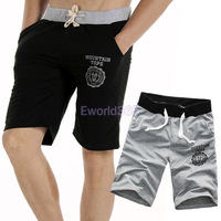 2X HK Free Shipping Super Quality Mens Casual Cropped Beach Trousers Sports Gym Short Pants Slacks Jogging Black/Gray M/L/XL/XXL