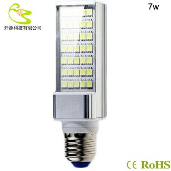 Free shipping 7w horizon down light 630lm High quality 85-265v  5050 smd led corn bulb lamp e27 led corn light 220v