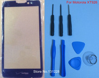 High Quality Black Outer LCD Screen Lens Top Glass Replace For Motorola DROID RAZR HD XT926+Free Tools+Safe Packing