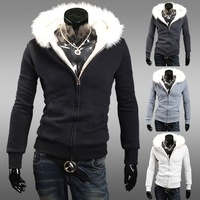 New Men's Stylish,Fashion Hoodies,Jacket, Outcoat, Male Cloths,Top, Casual  Sweatshirts,Wholesale,4 Colors,Free Drop Ship, XL006