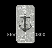 Vintage Dictionary Anchor  Hard Cover Case for iPhone 4/4S cover for iPhone 5 5S 5C (#024) Custom Design 5pcs/lot Free Shipping