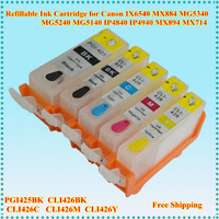 Empty 5pcs/set Refill Ink Cartridge PGI425 CLI426 With Chip for Canon PIXMA MG5240 5140 6140 8140 IP4840 MX884 IX6540