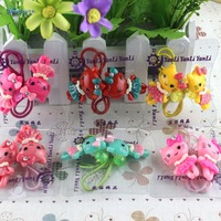 Free shipping 6pairs/lot Kitty cats hair holder Beautiful kids hair bands Great Little girl hair accessories Nice hair ornament