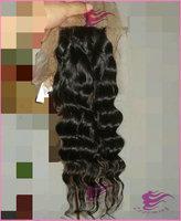 """free part closure virgin hair pieces Cambodian lace closure,deep wave hair silk base closure bleached knots, 4""""x 4"""" silk closure"""