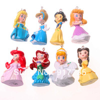 Free shipping! 50mm to 60mm Resin Anderson Fariytale Princess Pendants 8pcs/Lot For Girl's Beauty&Lovely Necklace Pendants
