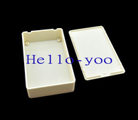 Free shipping (2pieces/lot) 100X60X25mm (L*W*H) White Plastic Project Box