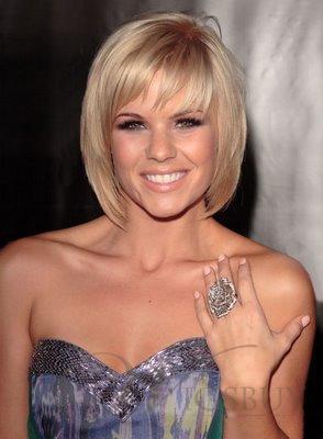2013 New Bob Hairstyle Cheap Short Layered Straight Platinum Blonde ...