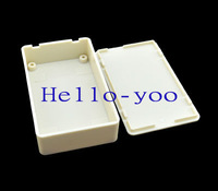 Free shipping (2pieces/lot) 85x49x21mm (L*W*H) White Plastic Project Box
