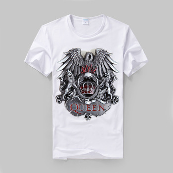 QUEEN Freddie Mercury metal style logo printing modal cotton t shirt vintage fashion