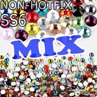 SS6 1.9-2mm Mix Colors Nail Art Rhinestones 1440pcs/bag Glass Non HotFix Crystals for DIY Nails Decoration strass Glitters