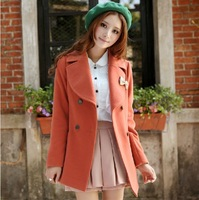 Free Shipping 2013  Autumn Fashion New Design Coat  Wool Winter Coat Women Slim Winter Jacket Women