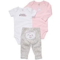 "Carters ""Daddy's princess""  3-piece bodysuit pant set (Sizes3M-24M) long-sleeve bodysuit short-sleeve bodysuit and pants"