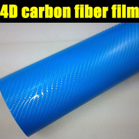 4D carbon fiber vinyl film for car body decorating with top quality, wholesale price free shipping