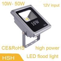 input 12V 10W 20W 30W 50W IP65 LED Flood Light led solar Flood light LED street Lamp CE&RoHS 2years warranty