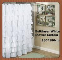 Europe Polyester Waterproof Princess Folio Pink Shower Curtains 180*180cm