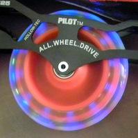 Paragraph light emitting speed skating shoes wheels 125mm shine wheel matter f1 wheel