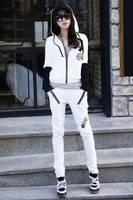 2013 women's tracksuits sport suit sweatshirt casual set women fashion batwing sleeve sportswear set