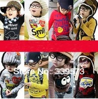 2013 new design Multicolor t shirts 1~10 Age boys girls t shirt Children clothing children's t-shirt kids clothes free shipping