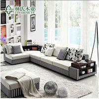 modern hight quality fleece fabric combination sofa,living room ,rebound and thicken sponge, door to door by boat,DDU service