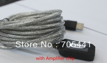 High quality 5M USB 2.0 A Male to Female ACTIVE Extension Data Cable with Amplifier chip