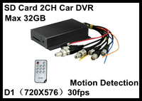 2CH MINI D1 Car DVR RECORDER GPS Motion Detection Mobile DVR Recorder Audio video Recorder In Stock Black