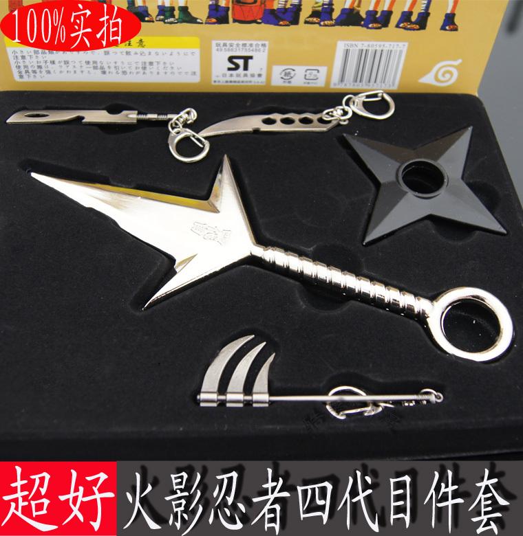 Yondaime kunai shuriken Momochi Zabuza decapitação espada armas Asma Chakra faca 5 peças set para naruto Hidan(China (Mainland))
