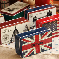 Free Shipping! 11pcs/lot World Scenery Tin Box Metal Earphone& Jewelry Storage Box Soap Case Candy Box Mixed design T1241