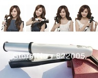 Free Shipping 2-in-1 Electric Steam Rotating Hair Curling / Straightening Electronic Hair Roller / Styler