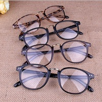 Free shipping! Hot sale popular eyeglasses Men/Women Vintage eyeglasses frame Fashion Eyeglasses optical, metal hinge