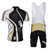 Free Shipping Cycling Bib Shorts Coolmax 3D Padded + Jersey Devil
