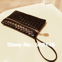 Hot selling new 2014 women handbag key holder wristlet clutch mobile phone bags,PU LEATHER Purse eveining bags