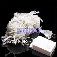 10m 110V Warm White100 LED 8-Modes String 110V Light Party Chrismas Lamp Decoration US Twinkle Decoration Tree Lights