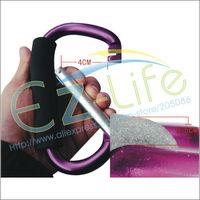20pcs/lot 138*79*11mm assorted Climbing Hook + rubber sponge handle Aluminum carabiner outdoor bag buckle hanger, free shipping