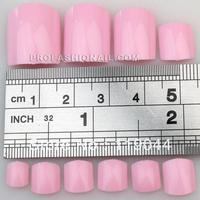 Free Sshipping 500PCS/Set pink Artificial Toenail False Toe Nails Tip With bag NA047H
