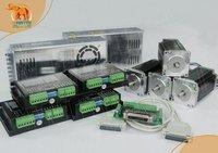 EU Free! CNC Wantai 4 Axis Nema23 Stepper Motor WT57STH115-4204A 425oz 4.2A+Driver DQ542MA 4.2A  Laser Engraver Machine