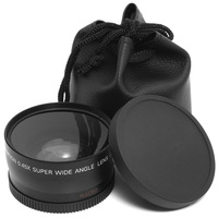Black 37mm 0.45x Wide Angle & Macro Conversion Lens 0.45x 37 + Front & Rear Cap - Free Shipping