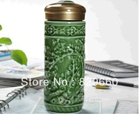 Hot  High-quality goods celadon keep-warm glass