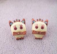 Min.order is $10(mix order) wholesale lots Animal cat fish earrings wholesale jewelry earrings girl Stud Earrings free shipping