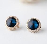 New Fashion Designer Inspired Gold Banquet temperament Statement Earrings j.e.w.e.l crew HK712
