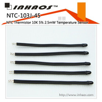 NTC-103J-45: NTC THERMISTOR 10K 5% 2.5Mw TEMPERATURE