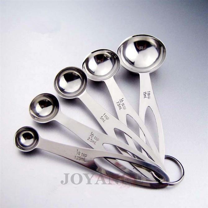 Kitchen tools 5pcs set measuring spoon 1 4tsp 1 2tsp 1tsp for 1 tablespoon to teaspoon