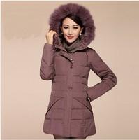 2013 New winter thickening waterproof white duck down jacket,plus size women's winter down coat outerwear,women's warm clothing