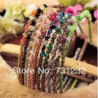 2013 fashion  korea style crystal stones  headband  girls hair accessories wholesale  18pcs/lot   free shipping