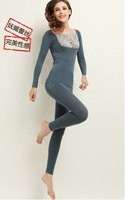 Thermal underwear thickening and flocking warm long-sleeve dexquisite strapless slim underwear long Johns suits